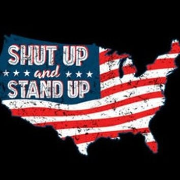 marines patriotic army t-shirt SHUT UP STAND up hoodie usa flag hooded cool sweatshirts hoodies hoody