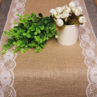 rustic jute lace wedding accessories table runner party event supplies hessian vintage retro burlap decoration for christmas