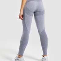 Gymshark Flex Leggings - Steel Blue Marl/Evening Navy Blue