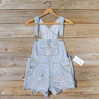 Daisy Distressed Overalls