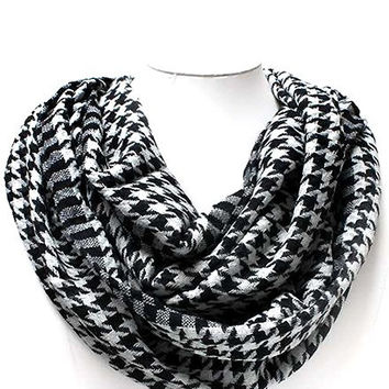 Darling Houndstooth Infinity Scarf with Monogramming!!