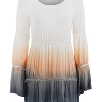 Bohemian Style Ombre Tunic Top