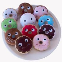 Yummy Donut Mini Plush Keychain 3-Inch