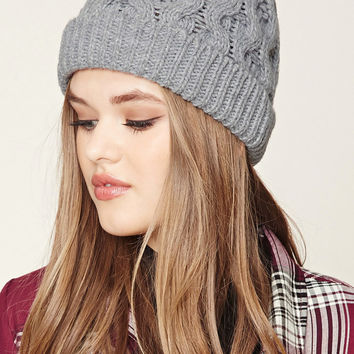 Honeycomb Fold-Over Beanie