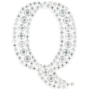 Clear Rhinestone Crystal Sticker Letter - Q | Shop Hobby Lobby