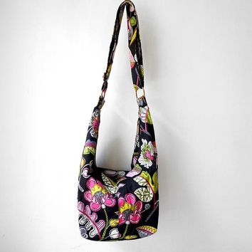 Floral Cotton Handmade Hobo Bag