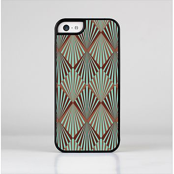 The Green and Brown Diamond Pattern Skin-Sert Case for the Apple iPhone 5c