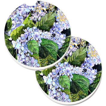 Hydrangea Set of 2 Cup Holder Car Coasters 8730CARC