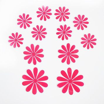 3D Flower Snowflake Butterfly Decorative Wall