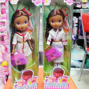 Disney Movie Cartoon 26 cm Doc McStuffins Clinic Girls Anime  Toy Doll Christmas Gift  for girl