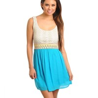 Ivory Teal Dress from P.S. I Love You More Boutique