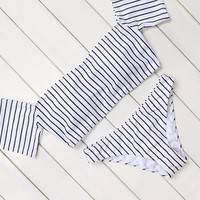 Set Striped Swimming Suits