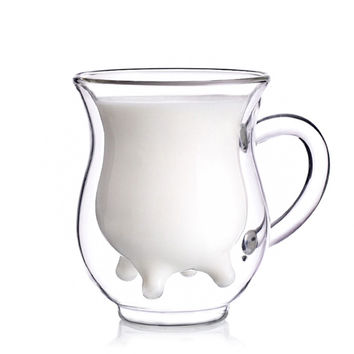 INFMETRY:: Cow Udder Shaped Pitcher Milk Glass Cup - Mugs - Home&Decor