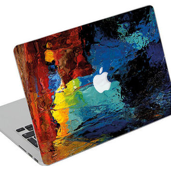 Stickers Macbook Decal Skin Macbook Air Skin Pro Skins Retina Cover Paint Colors Picture Christmas Gift New Year ( rm34)