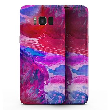 Splatter Blue and Red Oil - Samsung Galaxy S8 Full-Body Skin Kit