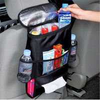 Hot Insulated Food Lunch Storage Bags box Auto Thermal Thickened Multi-functional large capacity car Seat Organizer Cooler bag