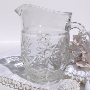 Vintage Prescut Pint Pitcher by Anchor Hocking