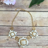 Awaken Sea Shells Necklace-Gold