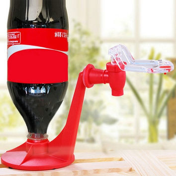 Portable Drinking Soda Gadget Coke Party Drinking Dispenser Water Machine (Color: Red) = 1946390276