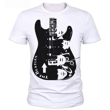 DCCKH6B Guitar Men T shirt Printing Rock Band The Beatles/ Nirvana/Guns N' Roses/Che Guevara/t shirt classic Casual Fashion T-shirt 120#
