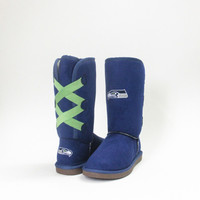 """Seattle Seahawks Official NFL Cuce """"Conqueror"""" Boots - PRE-ORDER"""