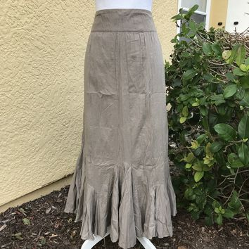 SIGRID OLSEN Women's 100% Cotton Maxi Skirt, Size 12
