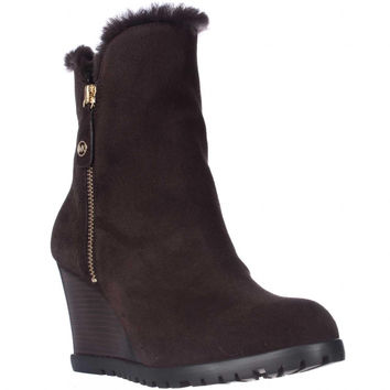 MICHAEL Michael Kors Whitaker Winter Shearling Lined Tall Boots - Coffee