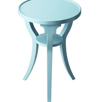 Butler Home Decor Round Accent Table Finish Type - Light Sky Blue