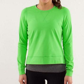 """lululemon"" Fashion Exercise Fitness Gym Yoga Run Sports Tops"