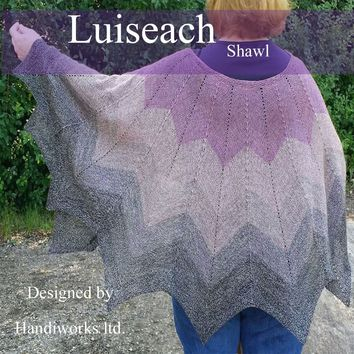 Shawl knitting PDF pattern