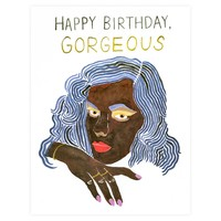 Gold Gorgeous Birthday Card