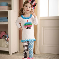Mud Pie-Zebra Tunic/Tight Set