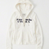 Womens Graphic Full-Zip Hoodie | Womens New Arrivals | Abercrombie.com