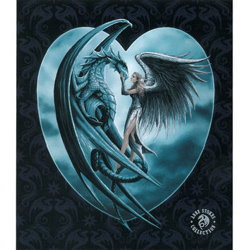 Silverback Dragon Angel JQ Signature Queen Blanket - Free Shipping in the Continental US!