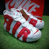 Best Online Sale Nike Air More Uptempo OG Red White Sport Baskerball Shoes Sneaker