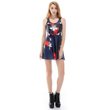 Harley Quinn Printed  Dress Casual Dress