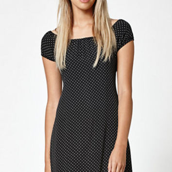 Lisakai Polka Dot Cap Sleeve Dress at PacSun.com