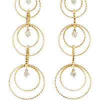 18K Yellow Gold Brillante Circoli Earrings with Diamonds
