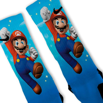 Super Mario Bros Custom Nike Elite Socks