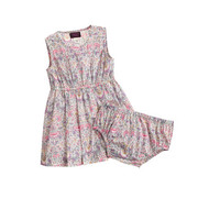 BABY DRESS AND BLOOMER IN LIBERTY LODDEN FLORAL