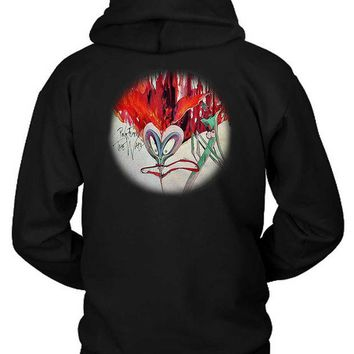 ONETOW Pink Floyd The Wall Rounded Illustration Funny Face Hoodie Two Sided