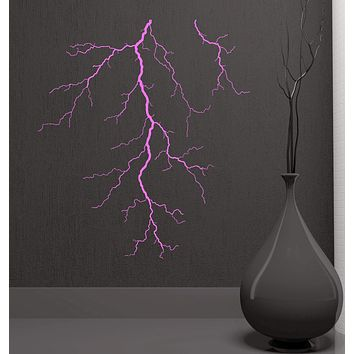 Vinyl Decal Lightning Atmospheric Electrical Discharge Weather Forecast Wall Stickers Unique Gift (ig2808)