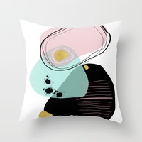 Modern minimal forms 9 Throw Pillow by naturalcolors