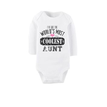 I've Got the World's Most Coolest Aunt Printed BodySuits - Baby Clothes Bodysuit