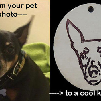 Custom Personalized Pet Keychain or Pendant, Great for animal lovers