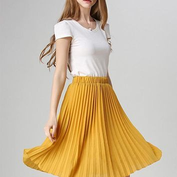 Kudos Pleated High Waist Tutu Skirt
