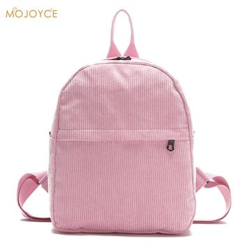 Preppy Chic Corduroy Backpack Women Shcool Bags for Teenager Girls Shoulder Preppy Backpack Rucksacks Travel Mochila Rucksack