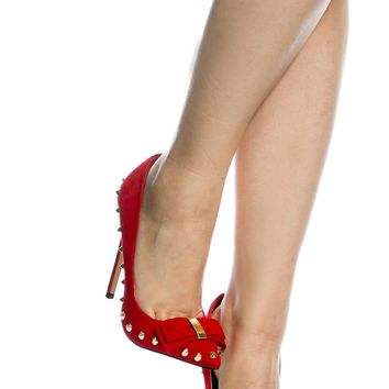 Red Faux Suede Spike Pointed Toe Pumps @ Cicihot Heel Shoes online store sales:Stiletto Heel Shoes,High Heel Pumps,Womens High Heel Shoes,Prom Shoes,Summer Shoes,Spring Shoes,Spool Heel,Womens Dress Shoes