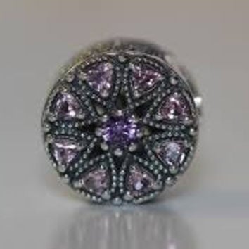 Pandora Charms Shimmering Medallion Multi-Colored CZ Authentic Pandora