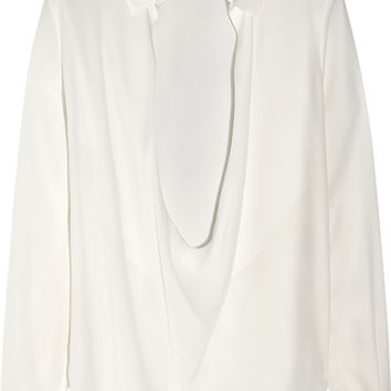 Anthony Vaccarello - Washed-silk blouse